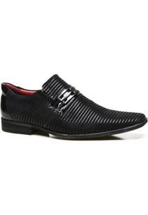 Sapato Social Couro Calvest Verniz Masculino - Masculino