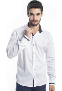 Camisa Tony Menswear Slim Branca