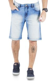 Bermuda Klass Jeans Bolso Antifurto Sky Beach Invertido+Used - Masculino