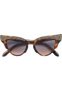 b5a05f4e6a8d9 R  2432,00. Farfetch Óculos De Sol Vidro De Sol Feminino Haste Marrom -  Eyewear Dsquared2 Gatinho