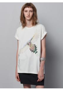 Camiseta Unissex Em Malha De Algodão Com Estampa Localizada Hering + À La Garçonne