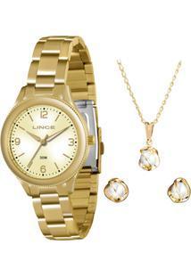 Kit Relógio Feminino Lince Lrg4289L K115C2Kx