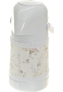 Garrafa Térmica Com Capa Potinho De Mel Rosa