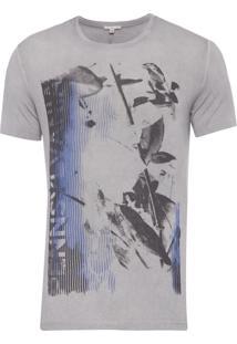 Camiseta Masculina Pennsylvania - Cinza