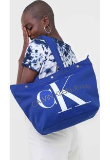 Bolsa Calvin Klein Monograma Azul - Kanui