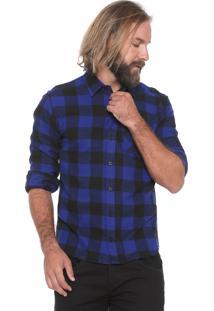Camisa Triton Reta Xadrez Comfort Azul