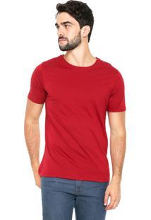 Camiseta Hering Gola Redonda Vermelha