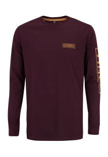 Camiseta Manga Longa O'Neill Teamste - Masculina - Vinho