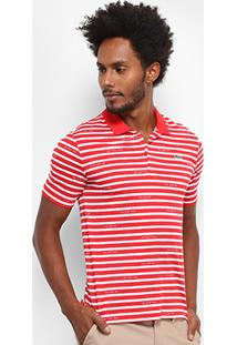 Camisa Polo Lacoste Live Jersey Listras Masculina - Masculino