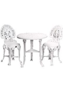 Conjunto Colonial Mesa E 2 CadeirasPlástico 3 JogosAntares