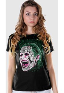 Camiseta Dc Comics Bandup! Esquadrão Suicida The Joker Prince Of Crime - Feminino-Preto