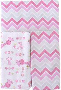 Cobertores E Mantas Minasrey Loupiot Classic Rosa