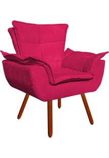 Poltrona D'Rossi Decorativa Opala Suede Pink