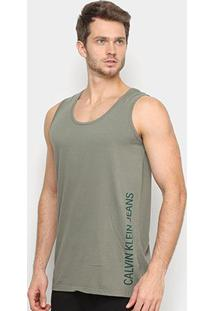 Regata Calvin Klein Jeans Masculina - Masculino-Verde Militar