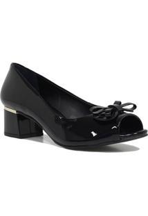 Sapato Jorge Bischoff Scarpin Laço Preto