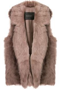 Blancha Oversized Sleeveless Jacket - Neutro