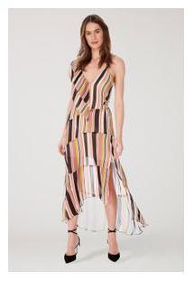 Vestido Aline Listrado Est Listra Picasso
