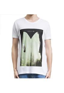 Camiseta Salt 35G Cauda Masculina - Masculino-Branco