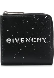 Givenchy Carteira De Couro Com Logo - Preto