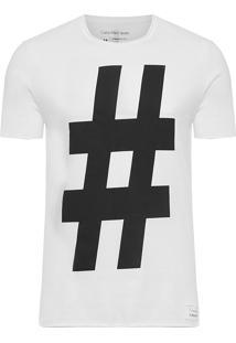 Camiseta Masculina Text Tee - Branco