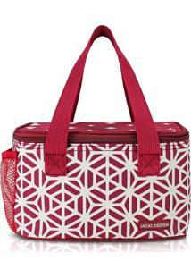 Bolsa Térmica Com Compartimento Rede Na Lateral Jacki Design Bella Vitta Vermelho Escuro