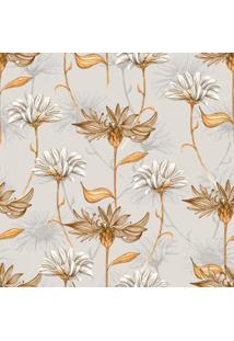 Papel De Parede Stickdecor Adesivo Floral Vintage Marrom 100Cm L X 300Cm A