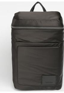 Mochila Com Tag & Bag Charm - Preta - 45X30X16Cmcalvin Klein