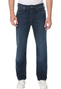Calça Jeans Five Pocktes Relaxed Straight Ckj 037 Relaxed Straight - Azul Médio - 38