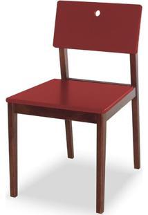 Cadeira Flip Cor Cacau Com Vinho - 30829