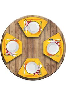 Jogo Americano Para Mesa Redonda Wevans Cute Noel Yellow Love Decor