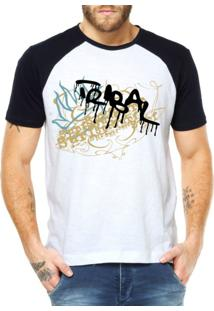 Camiseta Raglan Criativa Urbana Surf Tribal