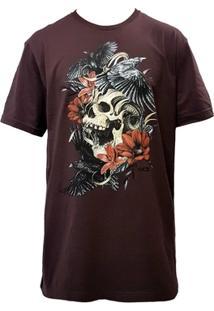 Camiseta Mcd Screen Skull Vinho - Masculino