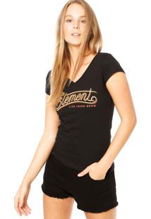 Camiseta Element Baby Look Balance Preta