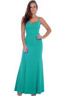 Verde jade claro vestido