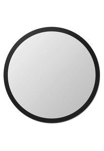 Espelho Edge 080Cm Espelho Prata E Borda Preto Vidrotec