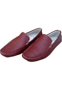 Mocassim Navit Shoes Driver Vermelho
