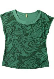 Blusa Feminina Adulto Estampada Verde