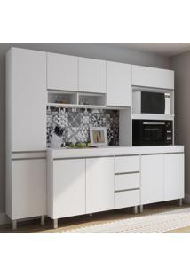 Cozinha Compacta Vegas 10 Portas 3 Gavetas Branco - Viero Móveis