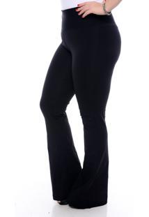 Calça Modeladora Flare Slim Fashion Preta-58