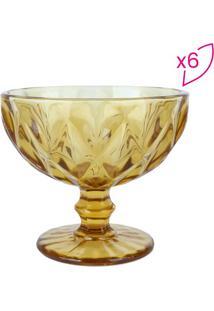 Conjunto De Taças Para Sobremesa Diamond- Âmbar- 6Pçlyor