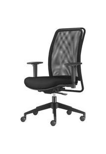 Cadeira Soul Presidente Assento Crepe Preto Base Nylon Piramidal - 54246 Preto