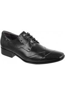 Sapato Social Masculino Sândalo Vermont Couro - Masculino-Preto