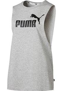 Regata Puma Essentials+ Cut Off Tank - Unissex-Cinza