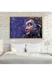 Quadro Love Decor Com Moldura Buddha Madeira Clara Grande - Multicolorido - Dafiti