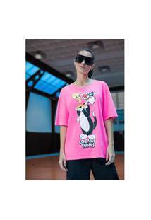 T-Shirt Descolada Rosa Ref: 502Ts002384 T-Shirt Descolada Rosa Ref: 502Ts002384 - Gg - Rosa My Favorite