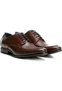 Sapato Social Couro Walkabout Clássico Derby Vesúvio Masculino - Masculino-Marrom Escuro