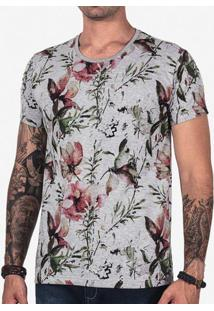 Camiseta Floral Mescla 102595