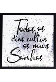 """Quadro Decorativo Sandu """"Todos Os Dias Cultivo...""""- Branart Frame"""