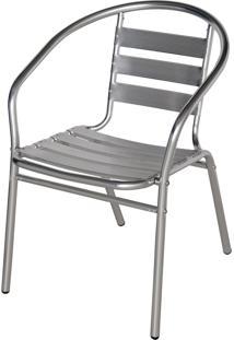 Cadeira De Jardim Com Estrutura De Alumínio Prata 9017 Mor