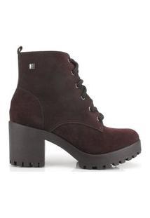 Bota Coturno Ramarim Ankle Boot Couro Café 2056101 Marrom